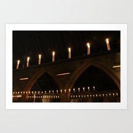 Christmas Candle Magic Art Print
