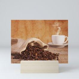 Coffee Beans and Burlap Sack Mini Art Print