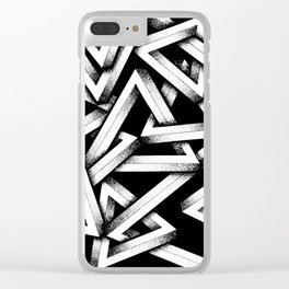 Impossible Penrose Triangles Clear iPhone Case