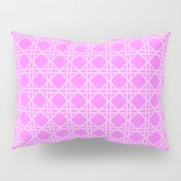 Cane Rattan Lattice in Hot Pink Pillow Sham