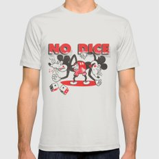 No Dice LARGE Silver Mens Fitted Tee