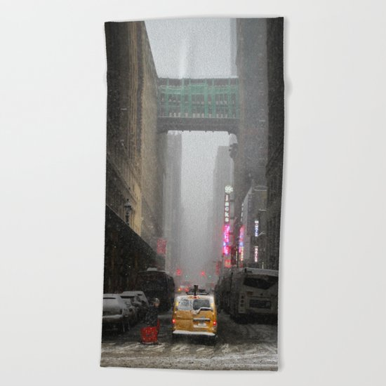 Snow Empire - NYC Beach Towel