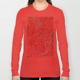 Vintage Map of Cedar Rapids Iowa (1967) Long Sleeve T-shirt