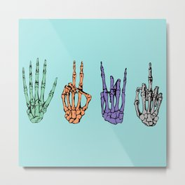 Skelegestures  Metal Print