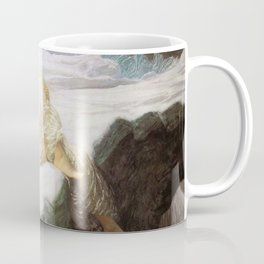 Lady reclining in the snow Coffee Mug