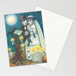 CEMETERY NUPTIALS - Susan Brack Skeleton Halloween Wedding Stationery Cards