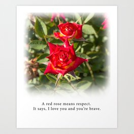Red Rose - Tea With Roses Art Print