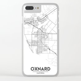 Minimal City Maps - Map Of Oxnard, California, United States Clear iPhone Case