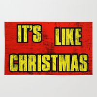 borderlands Area & Throw Rugs featuring IT'S LIKE CHRISTMAS by Resistance
