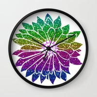 sunflower Wall Clocks featuring SunFlower by haroulita