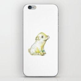 Pig Illustration iPhone Skin