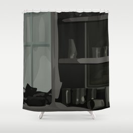 Abandoned Shower Curtain