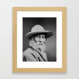 Walt Whitman Portrait Framed Art Print