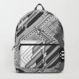 Monochromatic bold geometric shapes Backpack