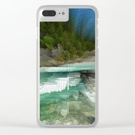 Abstract Landsape Clear iPhone Case