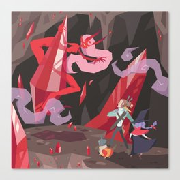 BOSS BATTLE Canvas Print