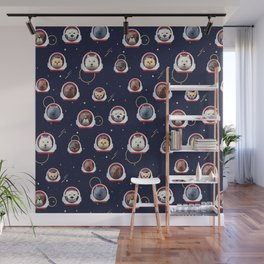 Dog Dogs Outer Space Pet Pets Pattern Wall Mural