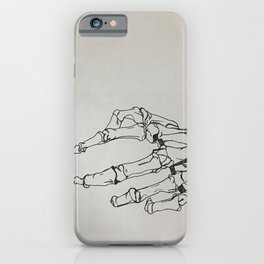 Skeleton Hands iPhone Case