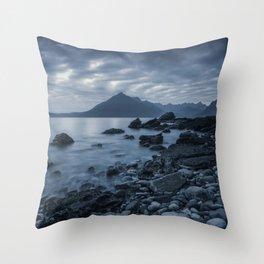 Elgol Beach Throw Pillow
