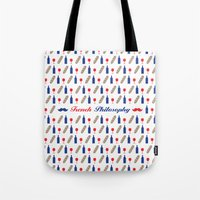 philosophy Tote Bags featuring PHILOSOPHY by Necdet Sahin