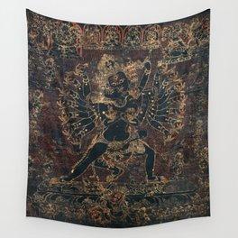 Shri Hevajra Black Death Thangka Wall Tapestry