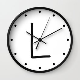 L LOVE Wall Clock
