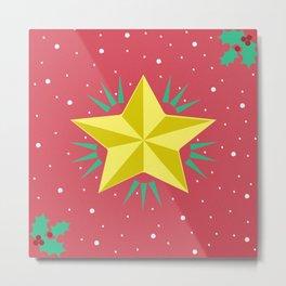 Estrella de navidad Metal Print