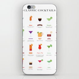 Classic Cocktails Print Art Poster | Drink Recipes | Bar Poster | Bar Art | Kitchen Art | Alcohol iPhone Skin