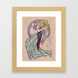 Spider Nouveau Framed Art Print