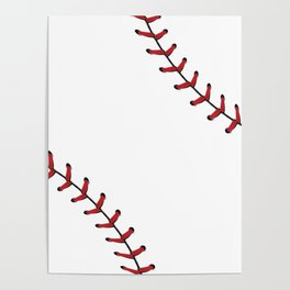 Baseball Laces Poster