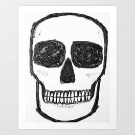 No. 89 - Black and white skull Art Print