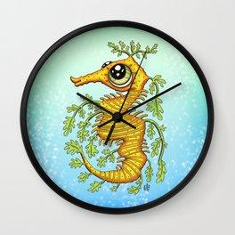 Happy Leafy Sea Dragon Wall Clock