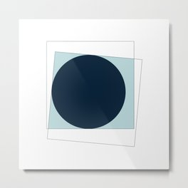 #368 New moon – Geometry Daily Metal Print