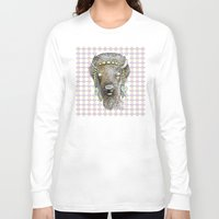 bison Long Sleeve T-shirts featuring Bison by dogooder