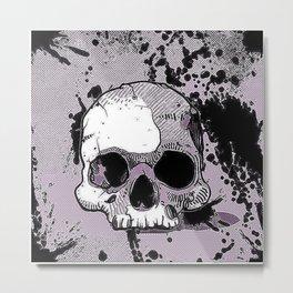 Funky Skull Metal Print