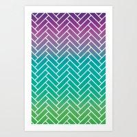 CH Herringbone  Art Print