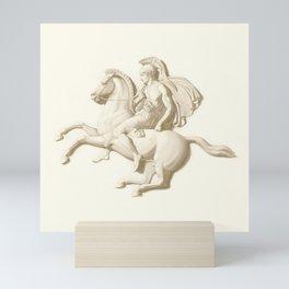 Alexander the Great on his horse Bucephalus or Bucephalas Mini Art Print