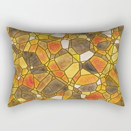 stained glass mosaic Rectangular Pillow