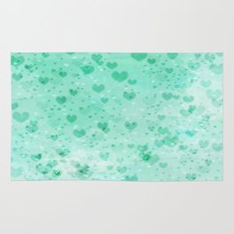 A Sea Of Floating Hearts Rug
