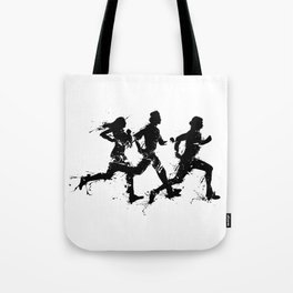 Runners in ink Tote Bag