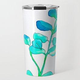 Watercolor Leaves Travel Mug
