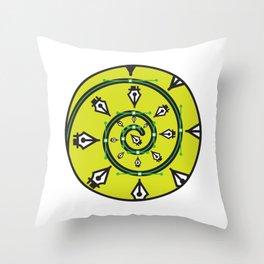 """Pen Tool Hypnosis"" Surviving Art School Badge Throw Pillow"