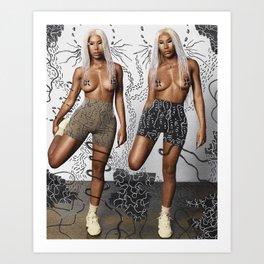 Clermont Twins X Ugherik Art Print
