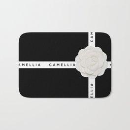camellia with ribbon Bath Mat
