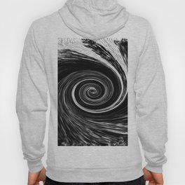 Center of The Vortex black and white 1 Hoody