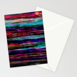 bohemian abstract painting Stationery Cards
