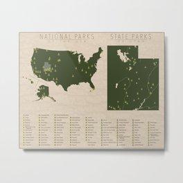US National Parks - Utah Metal Print