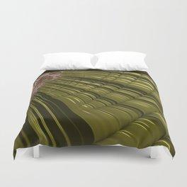 GO GREEN coils, FRACTAL art design Duvet Cover