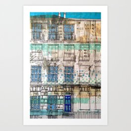 Edinburgh house Art Print