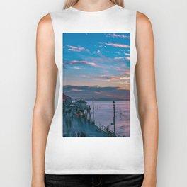 January Sunset from Huntington Beach Pier Biker Tank